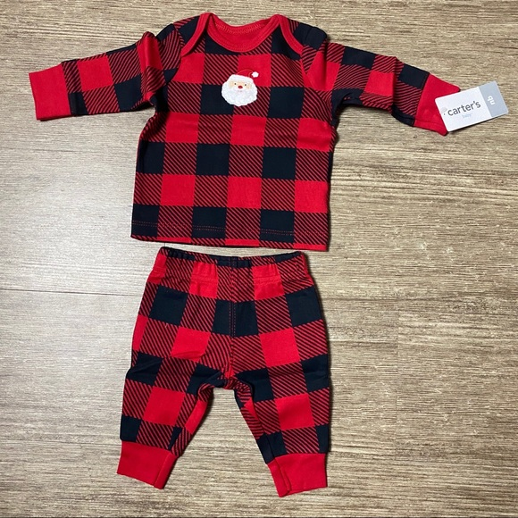 Carters Baby Girls 2 Piece Buffalo Check Pant Suit